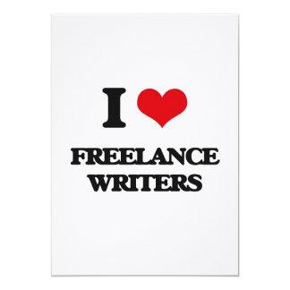Amo a escritores frees lances invitación 12,7 x 17,8 cm