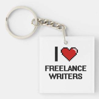 Amo a escritores frees lances llavero cuadrado acrílico a una cara
