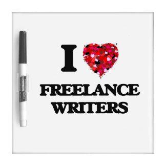 Amo a escritores frees lances pizarras