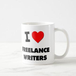 Amo a escritores frees lances taza