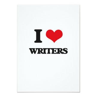 Amo a escritores invitación 12,7 x 17,8 cm