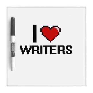 Amo a escritores tableros blancos