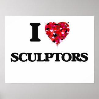 Amo a escultores póster