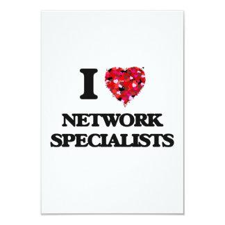 """Amo a especialistas de la red invitación 3.5"""" x 5"""""""