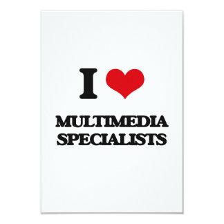 """Amo a especialistas de las multimedias invitación 3.5"""" x 5"""""""