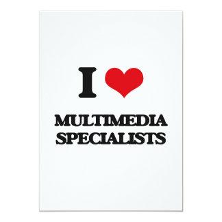 """Amo a especialistas de las multimedias invitación 5"""" x 7"""""""