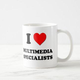 Amo a especialistas de las multimedias taza de café