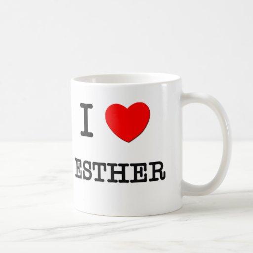 Amo a Esther Taza Básica Blanca