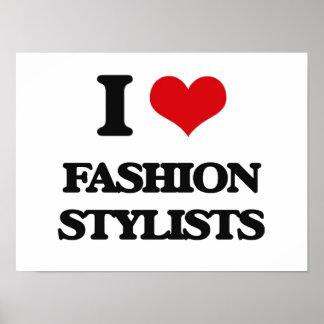 Amo a estilistas de la moda impresiones
