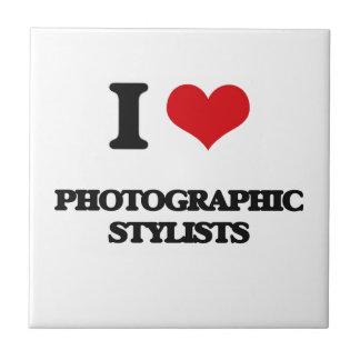 Amo a estilistas fotográficos tejas  cerámicas