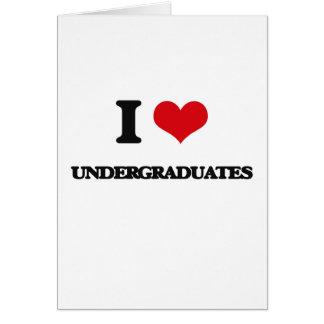 Amo a estudiantes tarjeta de felicitación