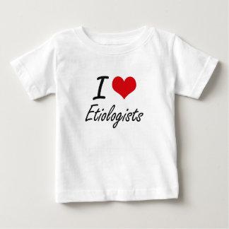 Amo a Etiologists Playera Para Bebé