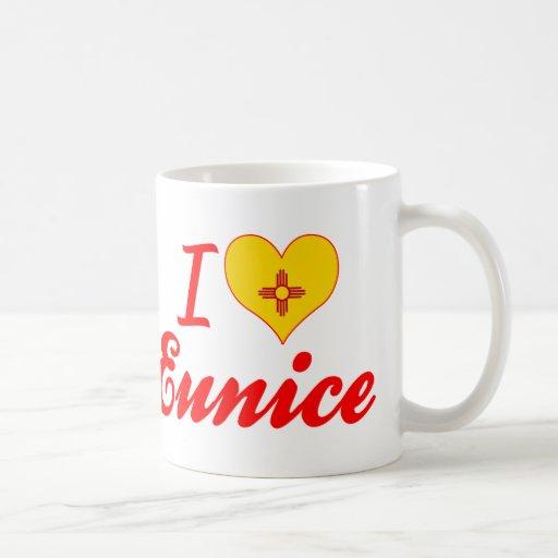 Amo a Eunice, New México Taza Básica Blanca