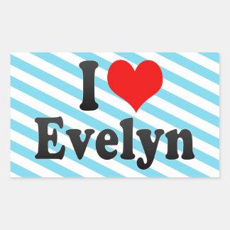 Amo a Evelyn Etiquetas