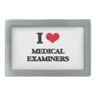 Amo a examinadores médicos hebilla de cinturón rectangular