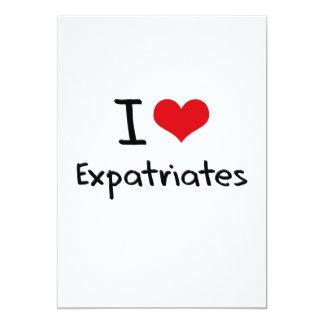 """Amo a expatriados invitación 5"""" x 7"""""""