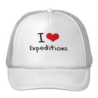 Amo a expediciones gorro