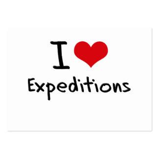 Amo a expediciones tarjetas de visita grandes
