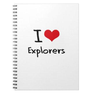 Amo a exploradores cuaderno
