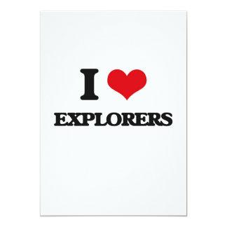 Amo a EXPLORADORES Invitación 12,7 X 17,8 Cm