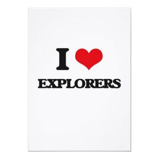 Amo a exploradores invitacion personalizada