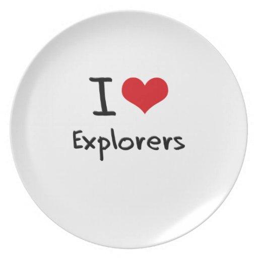 Amo a exploradores platos de comidas