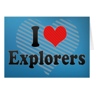 Amo a exploradores tarjeta de felicitación