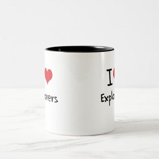 Amo a exploradores taza de café