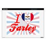 Amo a Farley, Iowa 38,1cm Portátil Calcomanías