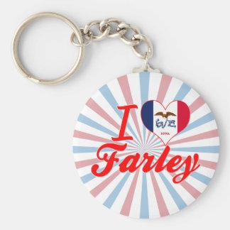 Amo a Farley, Iowa Llaveros Personalizados