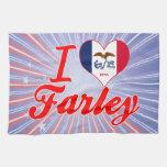 Amo a Farley, Iowa Toalla De Cocina