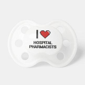 Amo a farmacéuticos del hospital chupetes de bebe