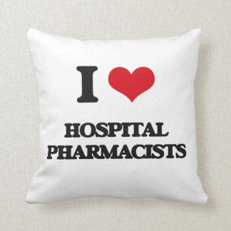 Amo a farmacéuticos del hospital cojines