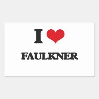 Amo a Faulkner Pegatina Rectangular