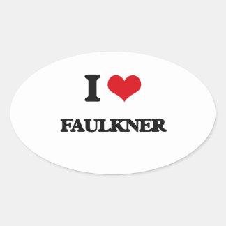 Amo a Faulkner Pegatina Ovalada