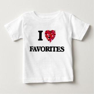 Amo a favoritos tshirts