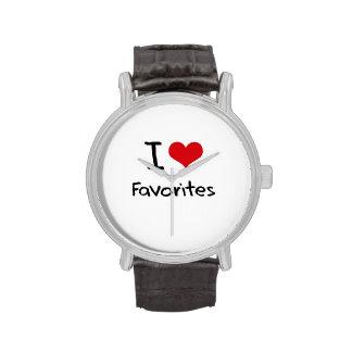 Amo a favoritos reloj de mano