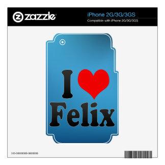 Amo a Felix Skin Para El iPhone 3