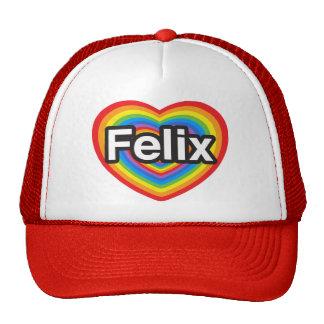 Amo a Felix. Te amo Felix. Corazón Gorras De Camionero