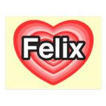 Amo a Felix. Te amo Felix. Corazón Postales