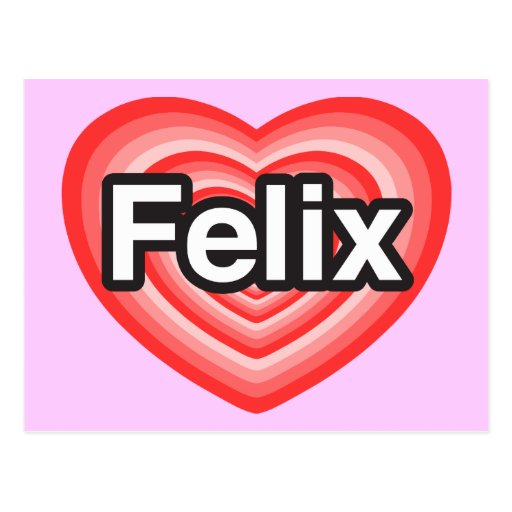 Amo a Felix. Te amo Felix. Corazón Tarjeta Postal