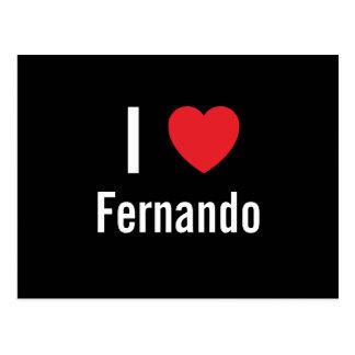 Amo a Fernando Tarjeta Postal