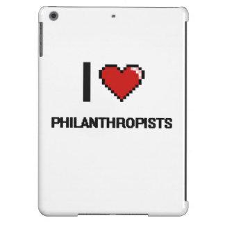 Amo a filántropos funda para iPad air