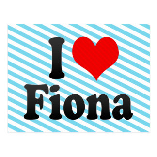 Amo a Fiona Postal