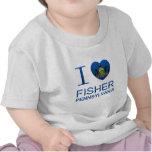Amo a Fisher, PA Camisetas
