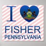 Amo a Fisher, PA Impresiones