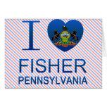 Amo a Fisher, PA Tarjeta