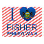 Amo a Fisher, PA Tarjetas Postales