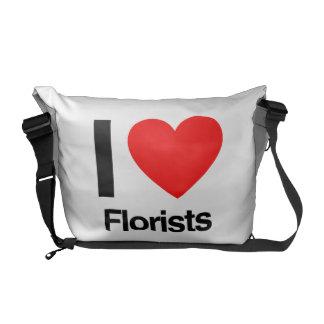 amo a floristas bolsas messenger