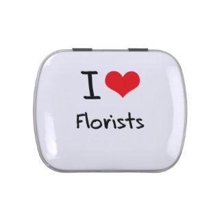 Amo a floristas jarrones de caramelos